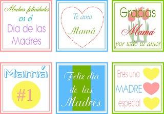 Aprendizaje Divertido: Imprimible: Etiquetas para los regalos del Día de las Madres