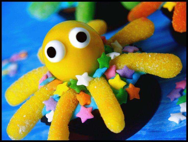 gumball & gummy octopus brownies