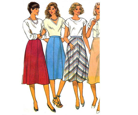 80s Skirts Pattern Style 4310 Vintage by allthepreciousthings
