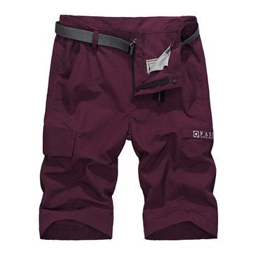 NIANJEEP Men's Leisure Outdoor Quick Drying Breathable Stretch Shorts Big Pockets Casual Trousers at Banggood