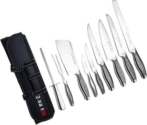 Best Inexpensive Japanese Style Chef Knife Set In 2020 Kitchen Knives Best Kitchen Knife Set Chef Knife Set