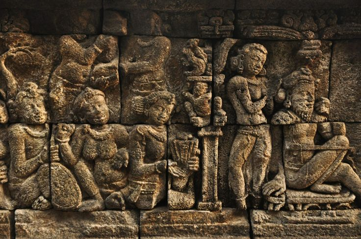 Relief at borobudur temple