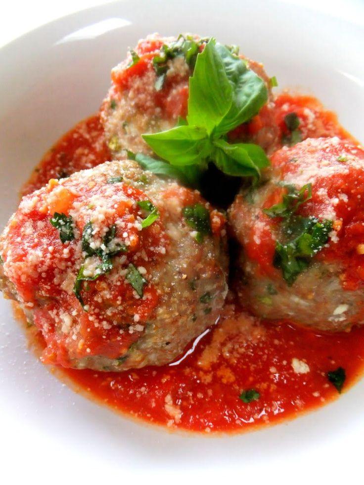 Italian Ricotta Stuffed Meatballs