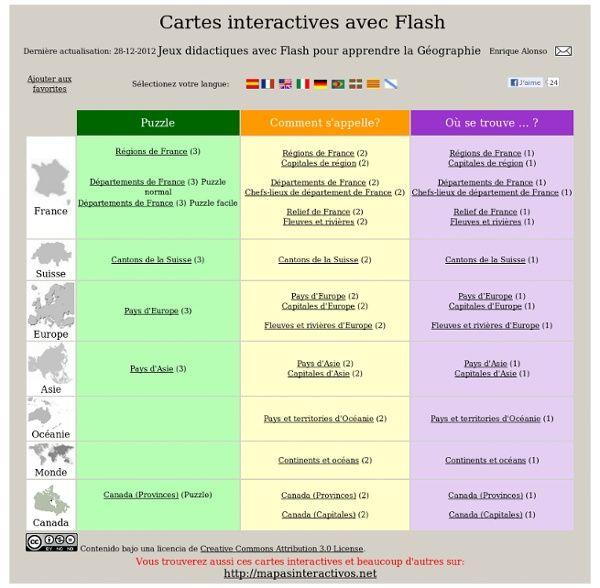 Cartes interactives flash