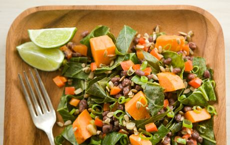 Sweet Potatoes with Collards