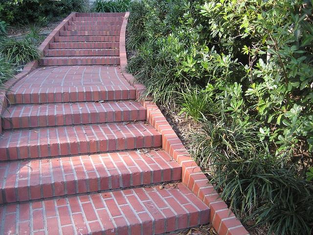 Brick Garden Steps