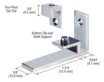 crl chrome combined shelf support and mirror clip by crl cr laurence mc04ch