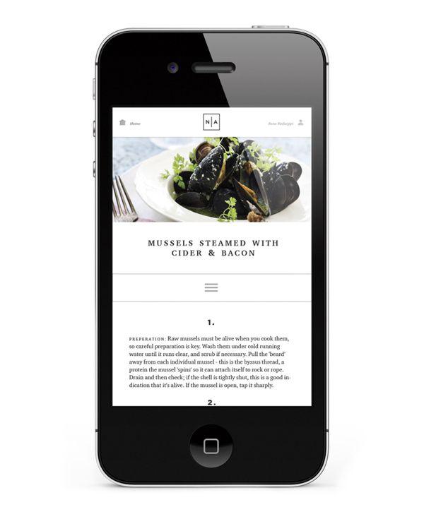 Noma Authentic   Website & App by Jonas Emmertsen, via Behance