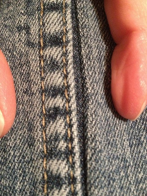 Jeans Refit Tutorial - taking in jeans by sewing next to the existing seam... all my jeans are way too big, and I can't afford to go buy a new wardrobe :/