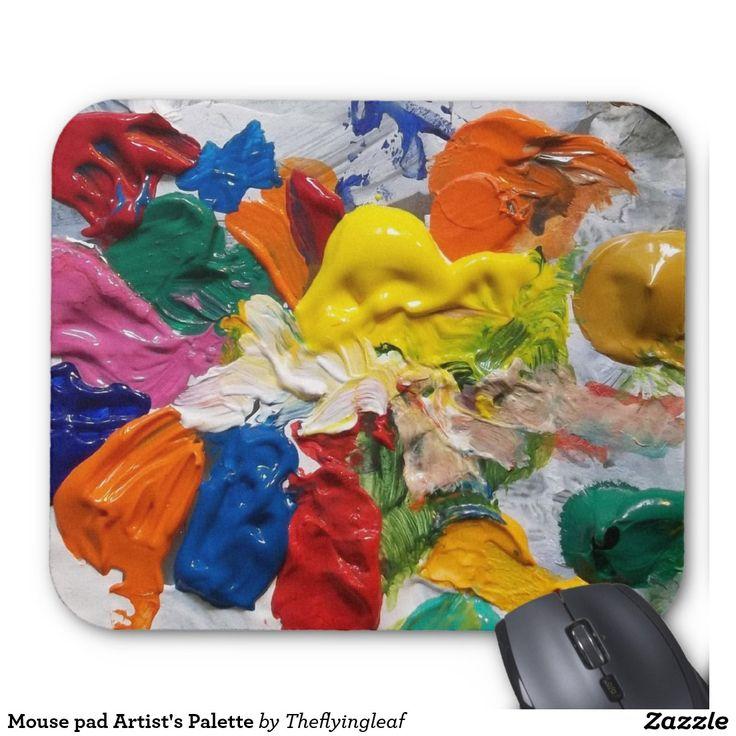 Die Palette Mausunterlage Künstlers Mauspad