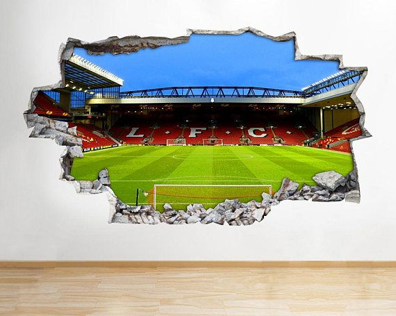 H006 Liverpool Stadium Anfield Wall Decal Poster 3d Art Football Bedroom Vinyl Room Liverpool