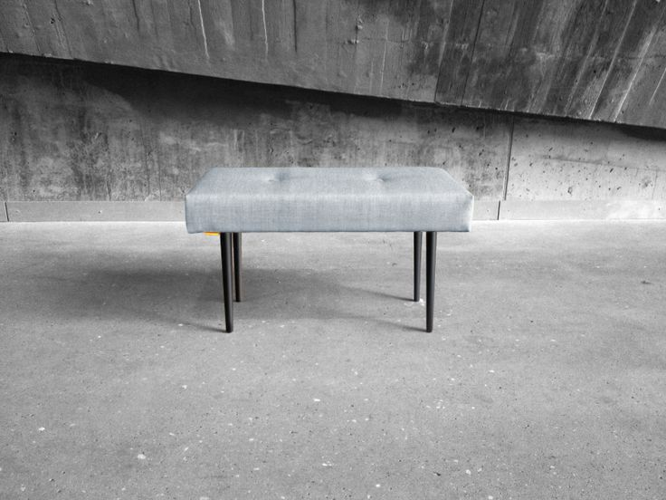 BENCH | take a seat | light grey with black lacquer legs www.benchtakeaseat.com