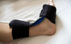 Night splints for treating heel pain.