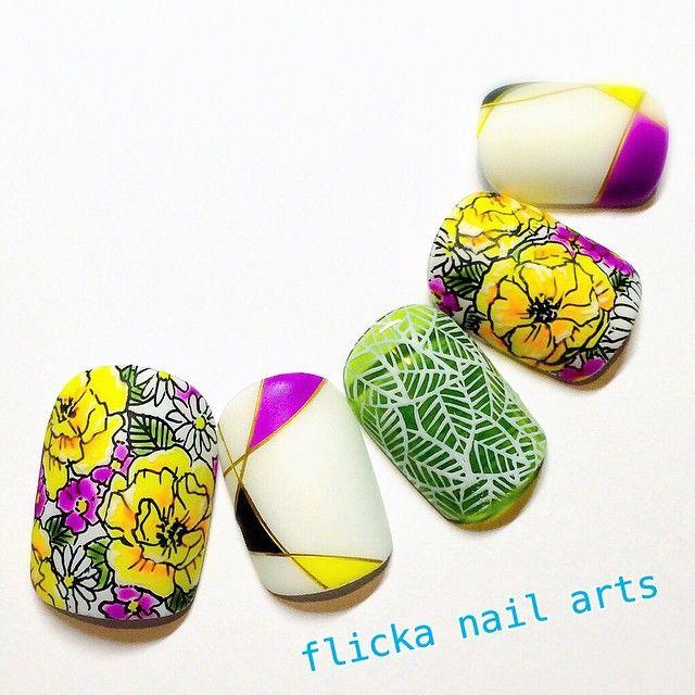 #nail#nailart#nailsart#nailswag#nailsalon#nailsalon#nailartist#naildesign#nailstagram#instagood#instanail#instaSize#handpainted#gelart#flickanail#japanesenailart#japanesenail#ネイル#ネイルアート#ネイルデザイン#ジェルアート#3DAttacker#ネイル#手描きアート#handpainted#テキスタイル#flowerprint#flowernail#summernail#夏ネイル