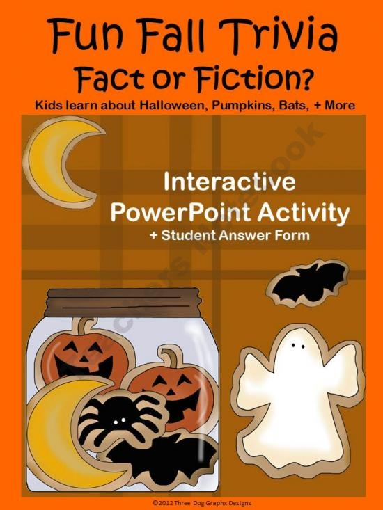 fun halloween trivia activity interactive powerpoint quiz worksheet product from the trail 4 - Halloween Quiz For Kids