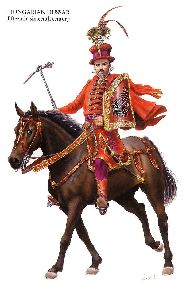 Hungarian hussar, 15th-16th century