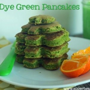 No-Dye Green Pancakes- add blended liquid spinach to mix- i can tell him they are hulk pancakes
