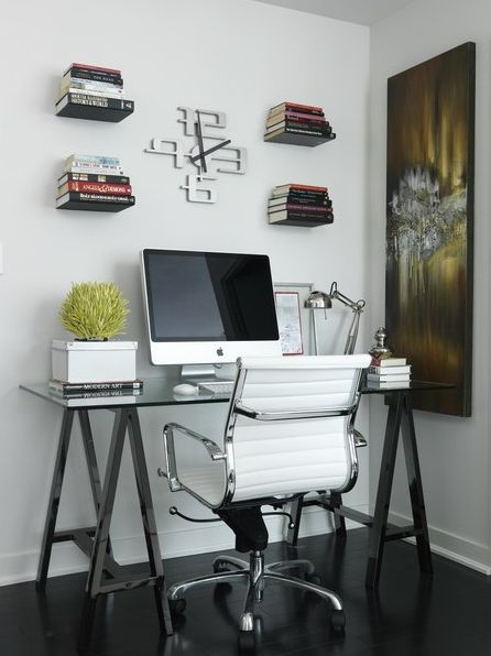 glass top office table chic. simple office toronto interior design group chic modern with glass top sawhorse desk eames management chair white abstract canvas art and table o