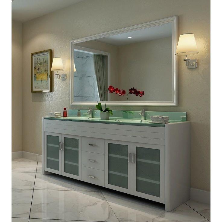 Design Element Waterfall White 72-inch Double-sink Vanity Set | Overstock.com Shopping - The Best Deals on Bathroom Vanities