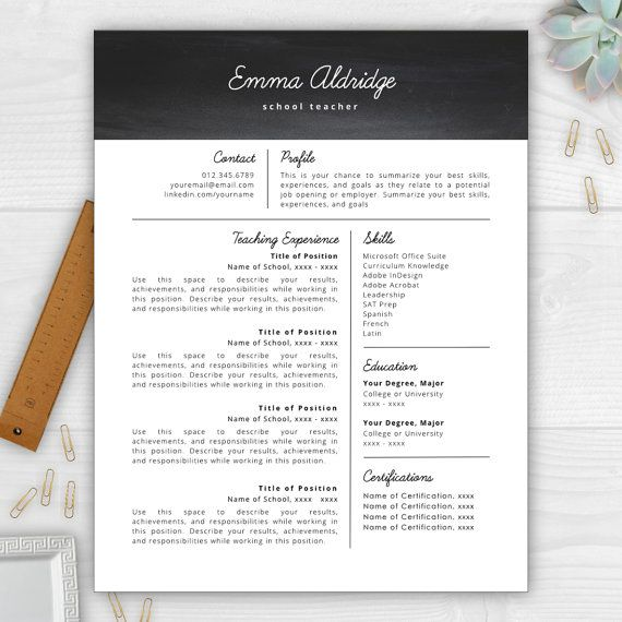 37 best Resume Templates images on Pinterest Cover letter - teacher responsibilities resume