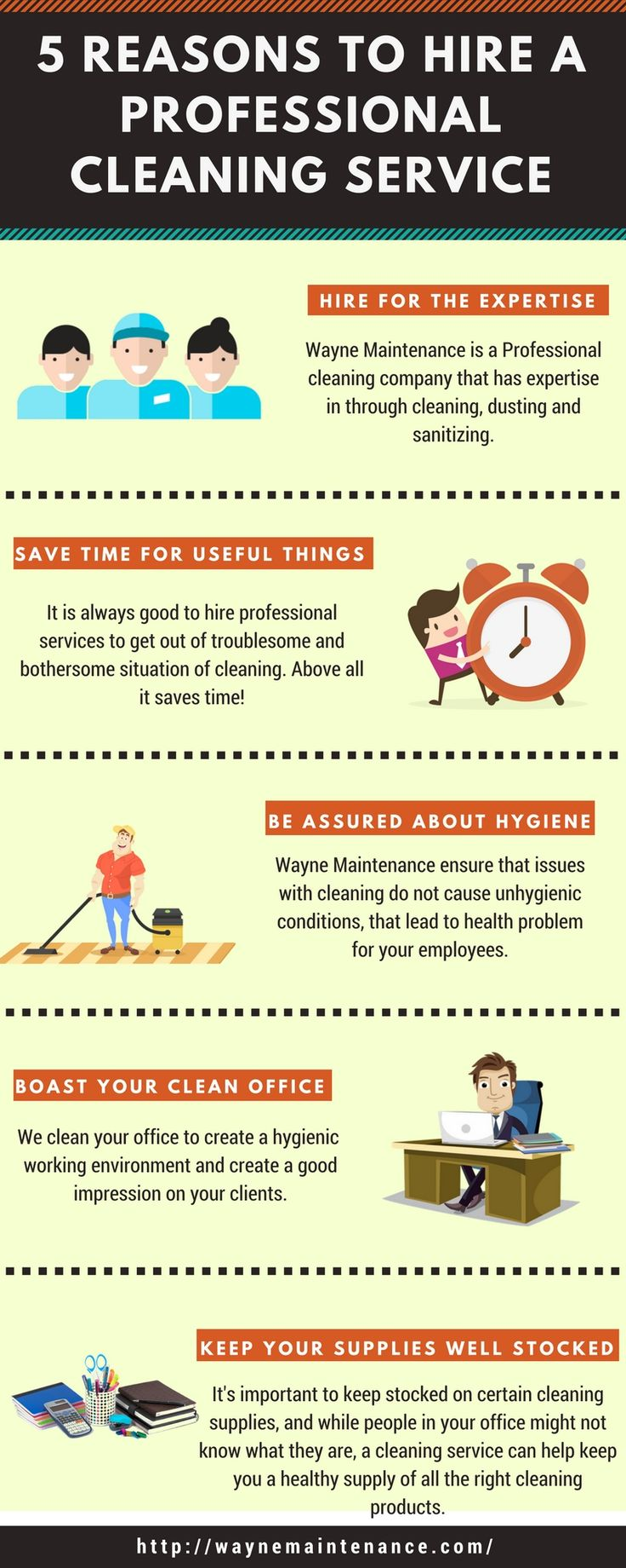 Professional cleaning service helps you to maintain your surrounding hygienic and fresh. To know more check 5 reasons to hire a professional cleaning services!