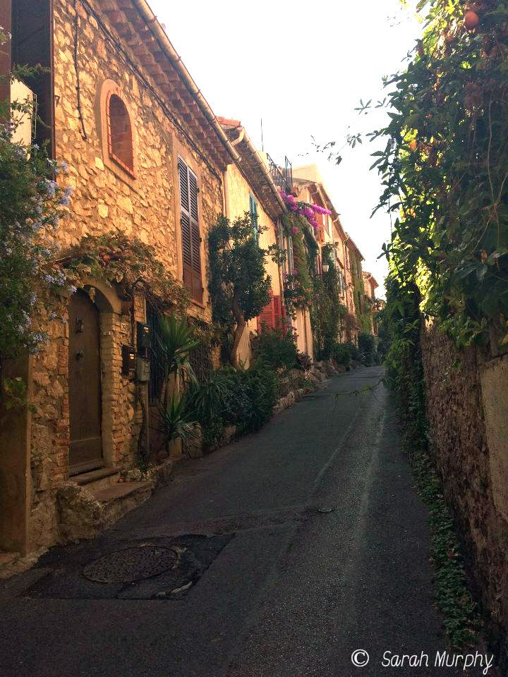 A beautiful street in Antibes, France