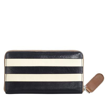 shiny leather big zip wallet, oh orla kiely, i think you made this just for me. $215.