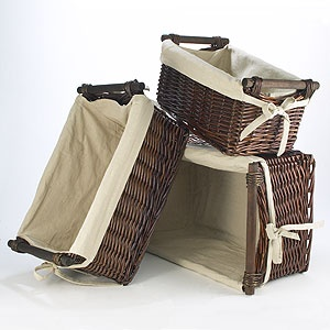 Dark Brown Isabella Willow Baskets With Liners  $14.99:
