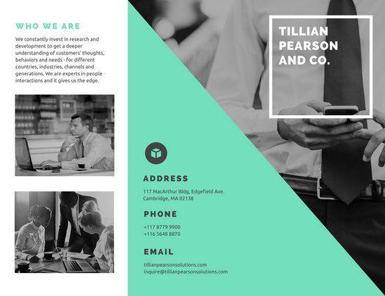 Green and Monochrome Photo Company Brochure