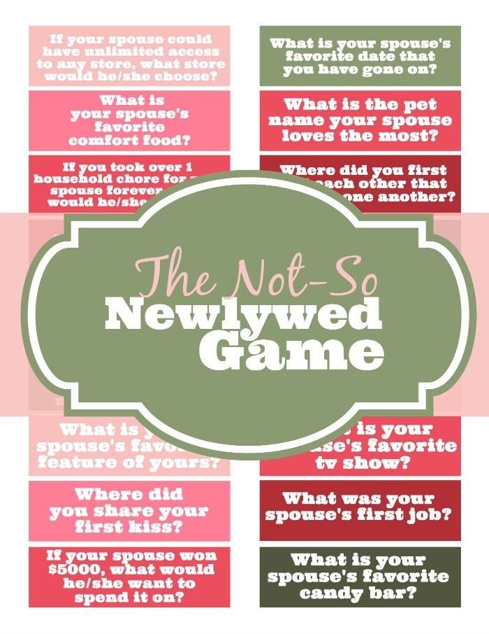 The Not So Newlywed Game Things For Mommy Pinterest