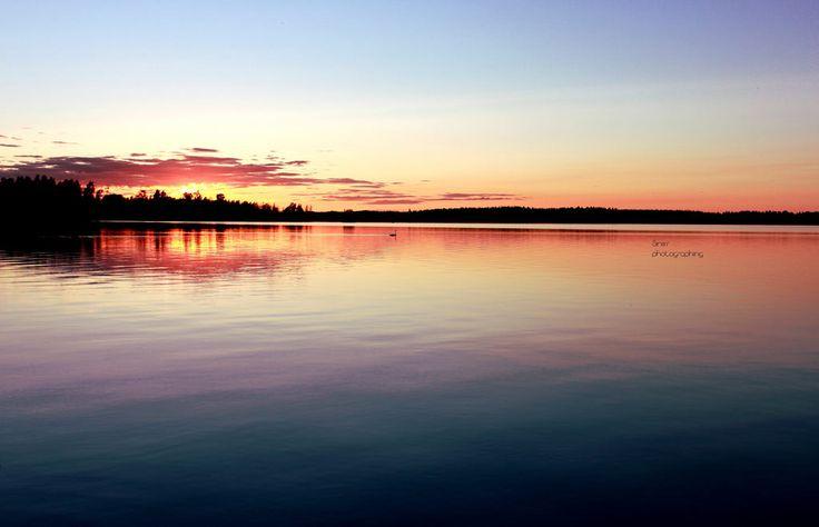 Lake at night   by Siniirr