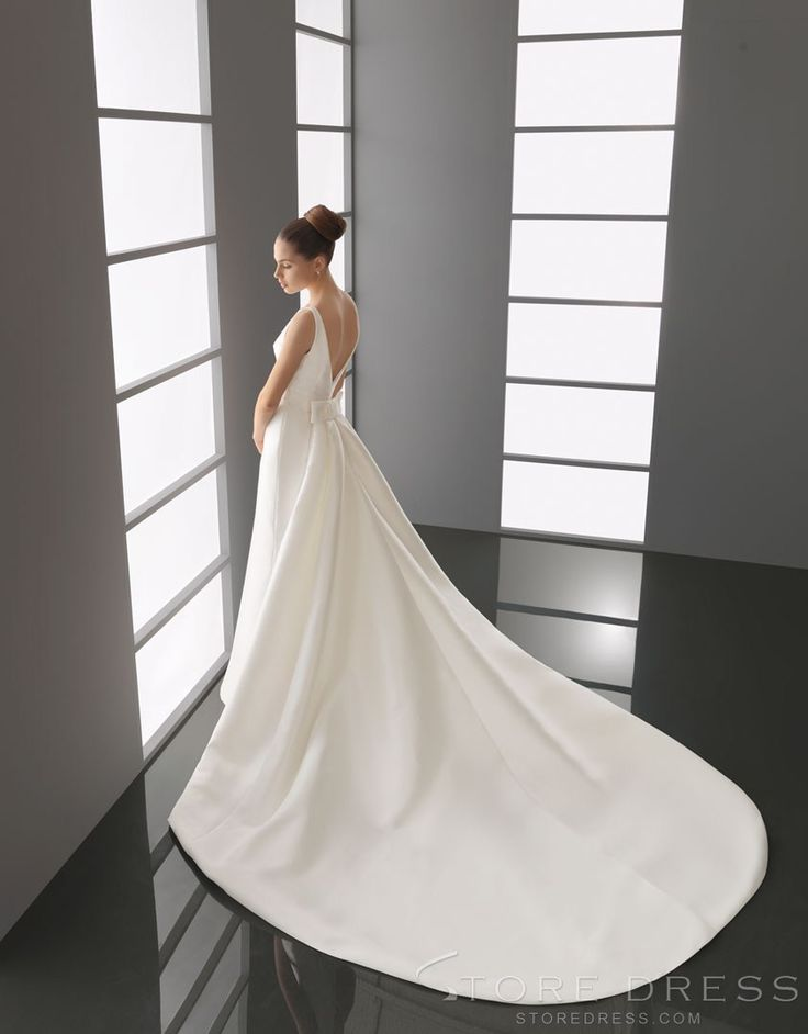 lovely A-line Scoop Scoop Ruffles Wedding Dress 2014 Style at Storedress.com
