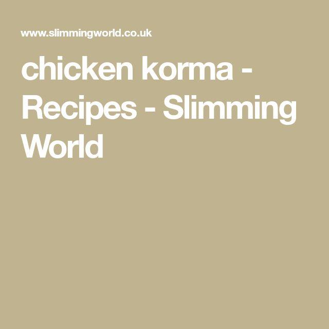 chicken korma - Recipes - Slimming World