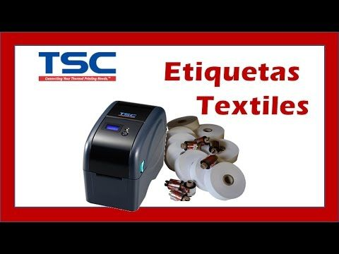 Impresora Textil para Etiquetas; Para Coser, Tejidas, Bordadas y Ropa - YouTube