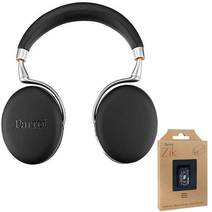 Parrot Zik 3 Wireless Bluetooth Headphones with Wireless Charger (Black Leather-Grain) includes Bonus Parrot Interchangable Battery. PARROT AUTHORIZED DEALER With FULL Warranty. INCLUDES BONUS Parrot Interchangable Battery for Zik 2 and Zik 3 - PF056026. ALSO INCLUDES 1 battery Li-Ion 830 mAh, 1 Line-in cable, 1 Micro USB cable, 1 Carrying pouch, 1 Quick start guide. NEW AUTOMATIC ADAPTIVE noise canceling and stunning 32-bit Audio processing. SMART TOUCH CONTROL panel and Bluetooth 3.0…