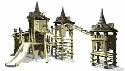 Деревянная детская площадка Classic 9 ( 6-14 лет)