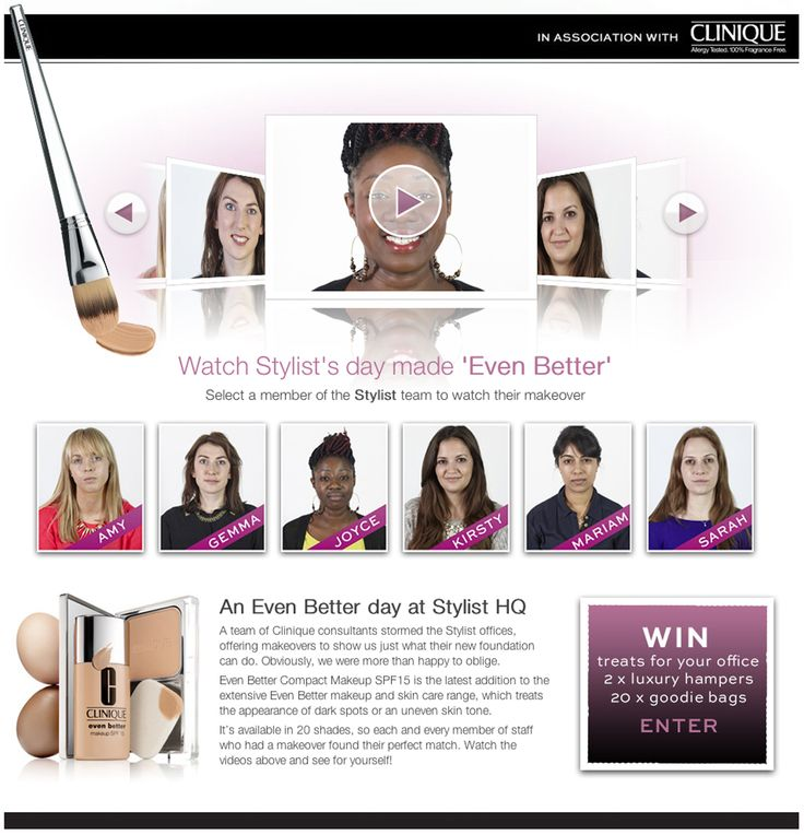 Clinique's Even Better promotion for their Even Better Compact Make Up SPF 15