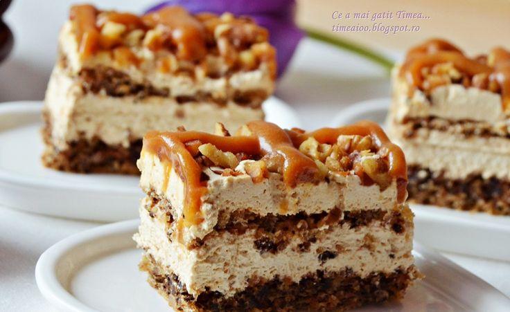 Reteta Prajitura deliciu cu nuca si caramel - Prajituri