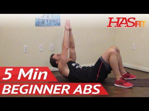 5 Min Beginner Ab Workout - HASfit Easy Abdominal Exercises - Easy Ab Workouts - Easy Abs Exercise - YouTube