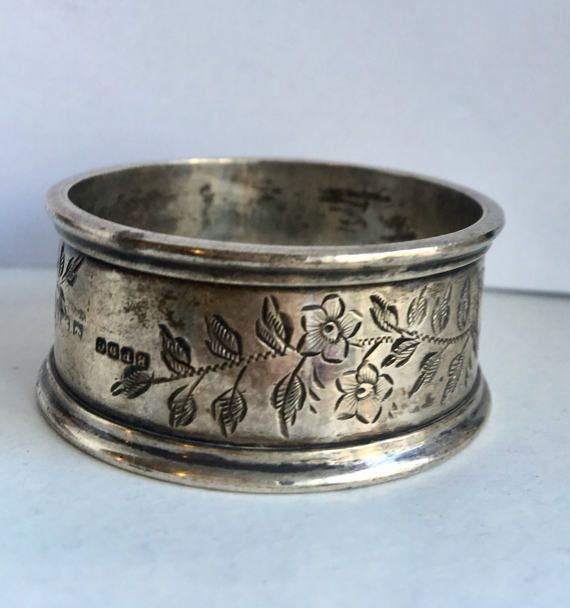 solid silver napkin ring made by Boots the chemist Napkin