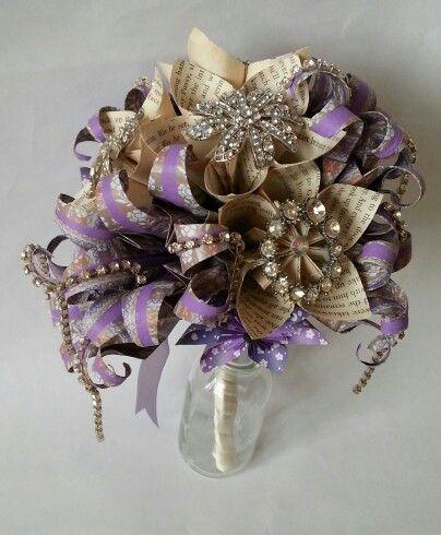 Alternative wedding bouquet brooch bouquets paper flower for Romantic origami ideas