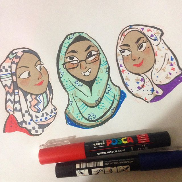 Inspired by my friends that wear the most beautifully patterned hijabs ☺️ ✨…
