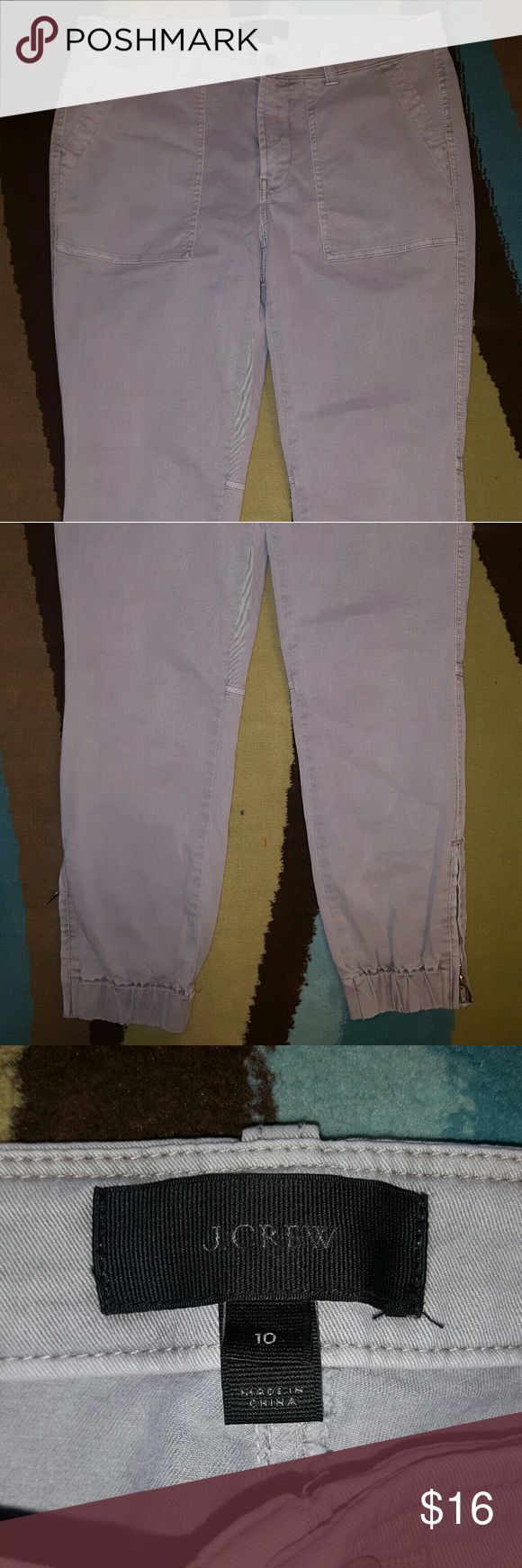 J.CREW GRAY CHINO JOGGER SZ 10 EUC.  FEEL FREE TO MAKE AN OFFER!!! J. Crew Pants Ankle & Cropped