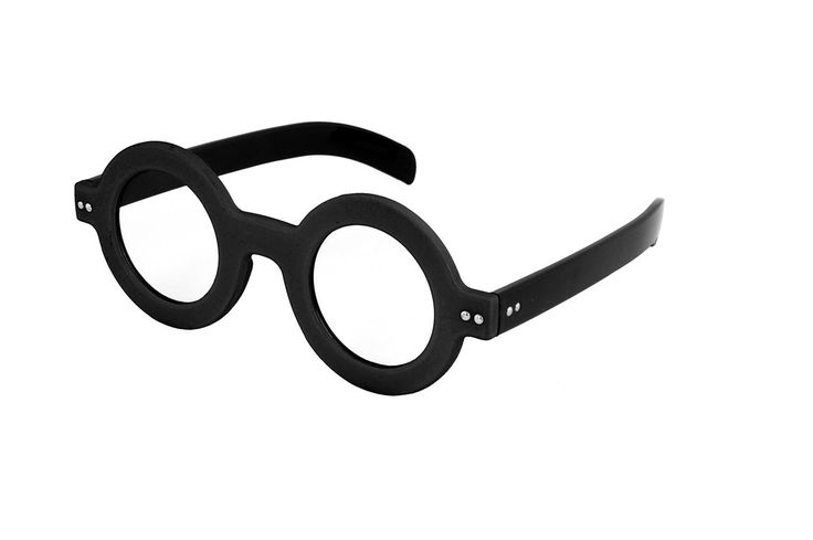 Dweeb Round Thick Frame Costume Glasses Adult: Black