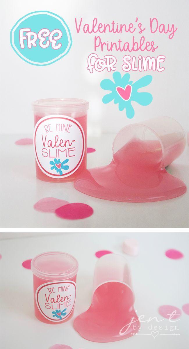 FREE Valentine's Day Printables | Slime Valentines - Jen T by Design