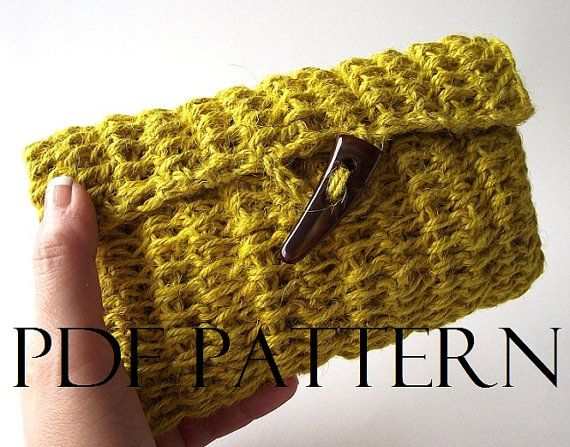 CROCHET BAG PATTERN Clutch Bag Pouch Bag by LiliaCraftParty #knittinghour #bag