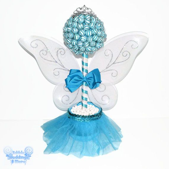 Blue Lollipop Fairy Princess Topiary Fairy by EdibleWeddings, $59.99