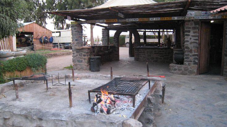 The braai area -aka bbq-  at Bushwhacked camp.