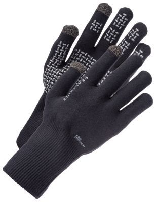 Sealskinz Ultra Grip Waterproof Gloves with Touch Screen Tip - Black - S