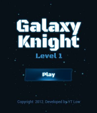Galaxy Knight built using HTML5 technology. You can play it either on PC or iPhone, iPad